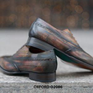 Giày tây nam đục lỗ chữ W siêu đẹp Oxford O2086 004