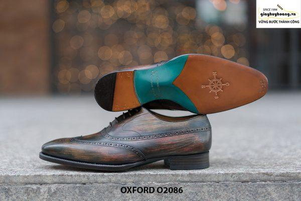 Giày tây nam đục lỗ chữ W siêu đẹp Oxford O2086 003
