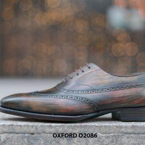Giày tây nam đục lỗ chữ W siêu đẹp Oxford O2086 002