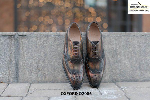 Giày tây nam đục lỗ chữ W siêu đẹp Oxford O2086 001