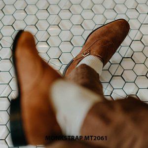 Giày tây nam 1 khoá da lộn Single Monkstrap MT2061 006