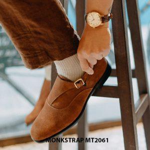 Giày tây nam 1 khoá da lộn Single Monkstrap MT2061 001