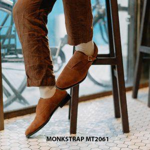 Giày tây nam 1 khoá da lộn Single Monkstrap MT2061 005