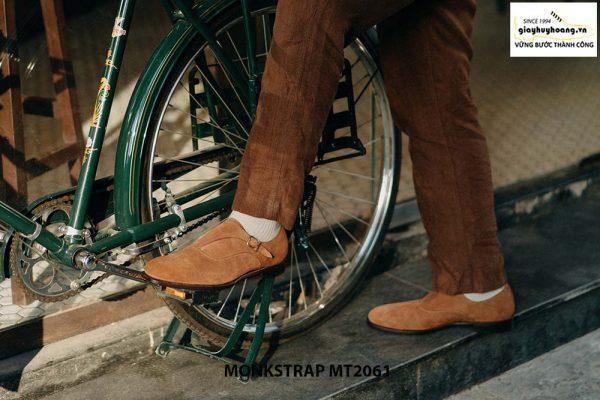Giày tây nam 1 khoá da lộn Single Monkstrap MT2061 003