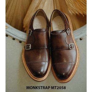 Giày da nam mạnh mẽ Double Monkstrap MT2058 004