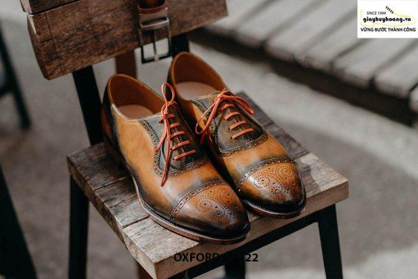 Giày da nam được làm từ thủ công Oxford O2122 001