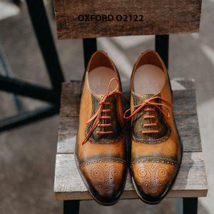 Giày da nam được làm từ thủ công Oxford O2122 005