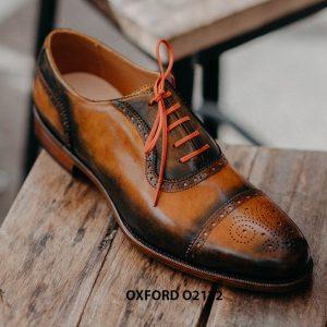 Giày da nam được làm từ thủ công Oxford O2122 004