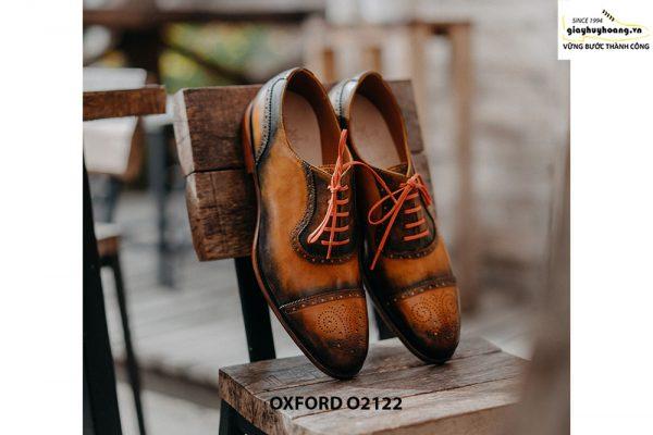 Giày da nam được làm từ thủ công Oxford O2122 002