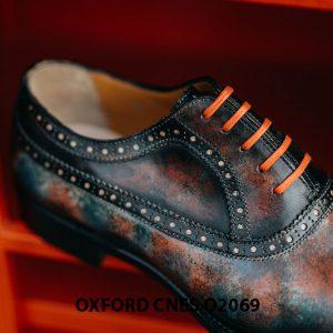 Giày tây nam đánh Patina 7 sắc màu Oxford O2069 005