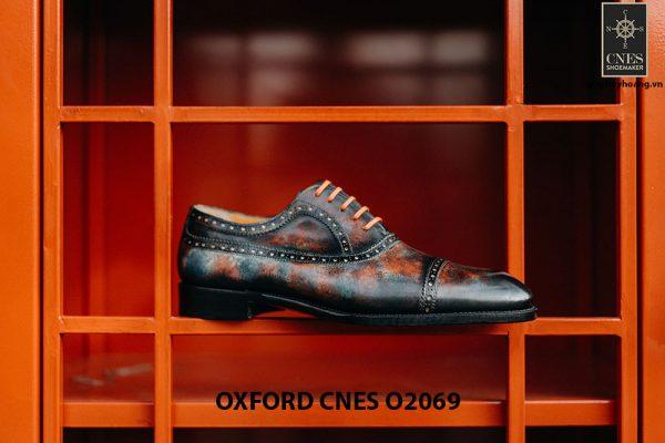 Giày tây nam đánh Patina 7 sắc màu Oxford O2069 002