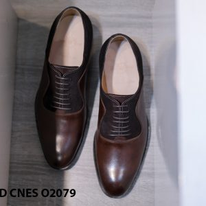 Giày da nam cao cấp phối nhung Oxford O2078 001