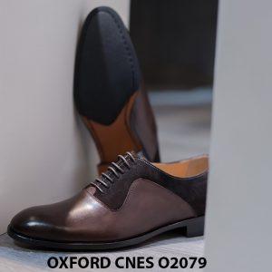 Giày da nam cao cấp phối nhung Oxford O2078 005
