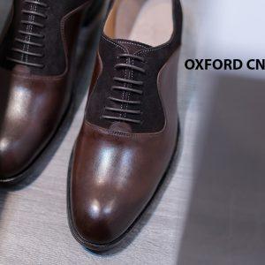 Giày da nam cao cấp phối nhung Oxford O2078 003
