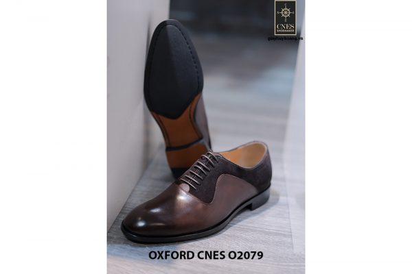 Giày da nam cao cấp phối nhung Oxford O2078 002