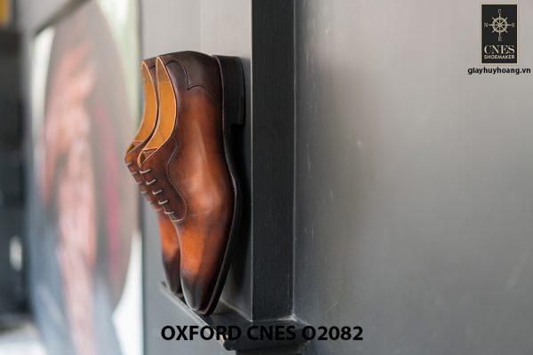 Giày tây nam mũi trơn không hoạ tiết Oxford O2082 006