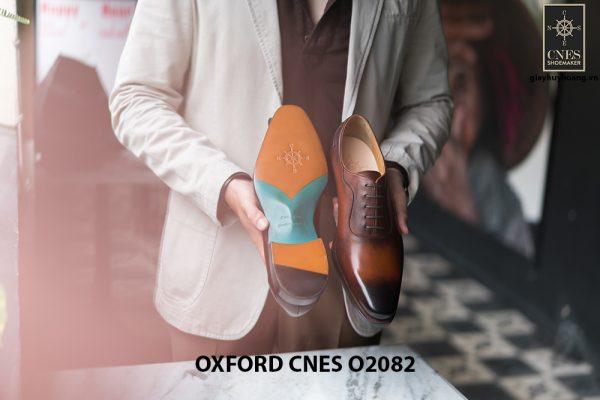 Giày tây nam mũi trơn không hoạ tiết Oxford O2082 005