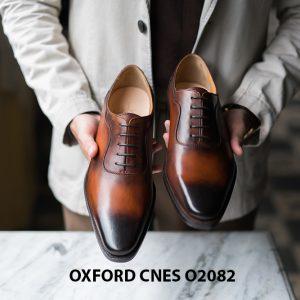 Giày tây nam mũi trơn không hoạ tiết Oxford O2082 004