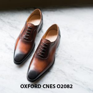 Giày tây nam mũi trơn không hoạ tiết Oxford O2082 001