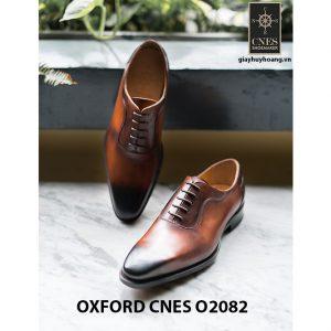 Giày tây nam mũi trơn không hoạ tiết Oxford O2082 003