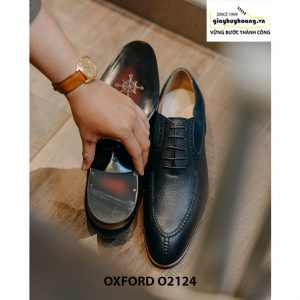 Giày tây nam da bê cao cấp Oxford O2124 005