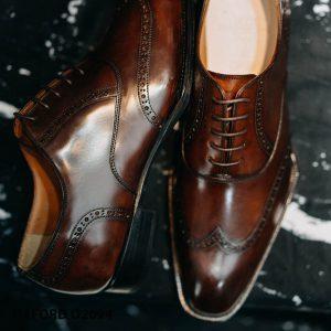 Giày tây nam da mịn bóng loáng đẹp Oxford O2094 0017