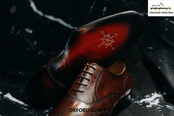 Giày tây nam da mịn bóng loáng đẹp Oxford O2094 0016