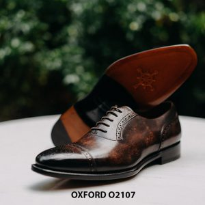 Giày da nam chính hãng cao cấp Oxford O2107 004