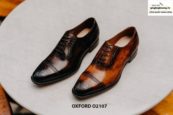 Giày da nam chính hãng cao cấp Oxford O2107 001