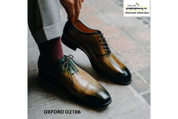 Giày da nam 7 màu đánh Patina Oxford O2106 005