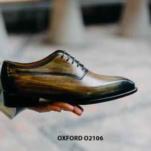 Giày da nam 7 màu đánh Patina Oxford O2106 004
