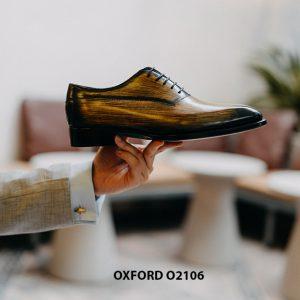 Giày da nam 7 màu đánh Patina Oxford O2106 003