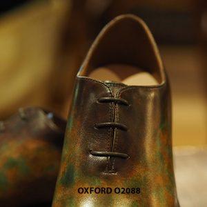 Giày tây nam đánh patina nghệ thuật Oxford O2088 004