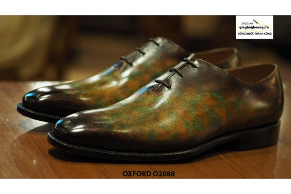 Giày tây nam đánh patina nghệ thuật Oxford O2088 001