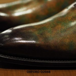 Giày tây nam đánh patina nghệ thuật Oxford O2088 002