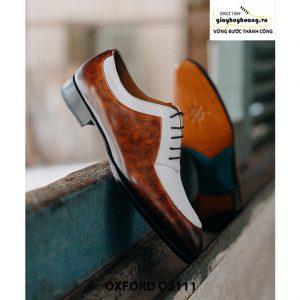 Giày da nam thiết kế độc đáo Oxford O2111 0006
