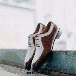 Giày da nam thiết kế độc đáo Oxford O2111 0004