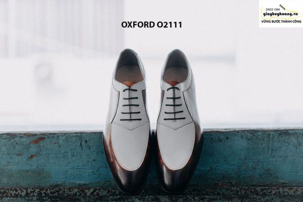 Giày da nam thiết kế độc đáo Oxford O2111 0001