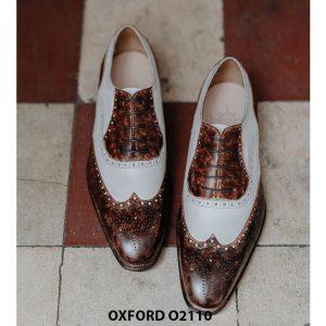 Giày da nam chính hãng 2 màu Oxford O2110 005