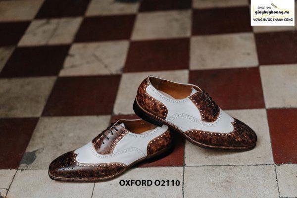 Giày da nam chính hãng 2 màu Oxford O2110 004