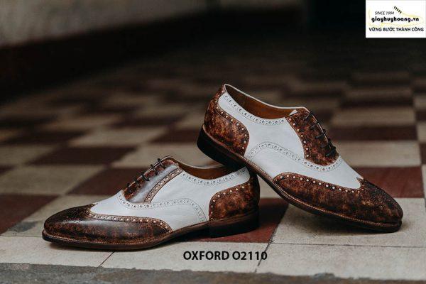 Giày da nam chính hãng 2 màu Oxford O2110 003