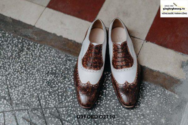 Giày da nam chính hãng 2 màu Oxford O2110 001