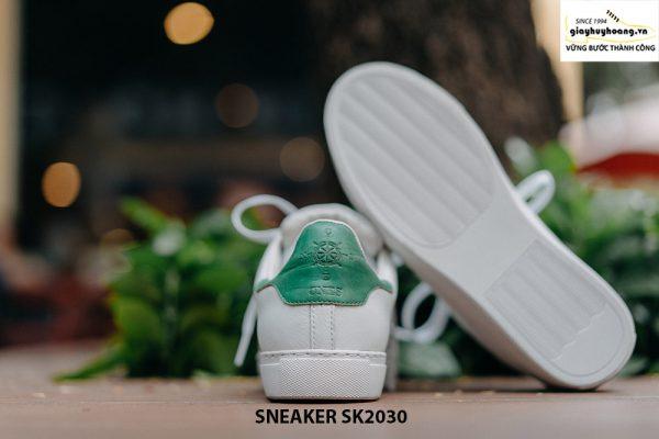 Giày da nam thể thao màu trắng đẹp Sneaker SK2030 006