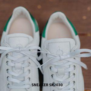 Giày da nam thể thao màu trắng đẹp Sneaker SK2030 004