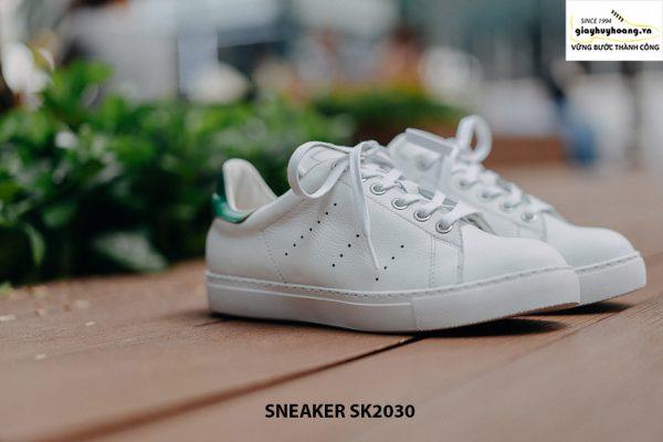 Giày da nam thể thao màu trắng đẹp Sneaker SK2030 003