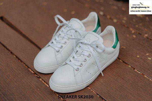 Giày da nam thể thao màu trắng đẹp Sneaker SK2030 001