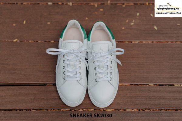 Giày da nam thể thao màu trắng đẹp Sneaker SK2030 002
