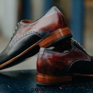 Giày da nam phong cách từ da bê hột Oxford O2118 006