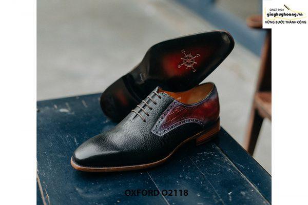 Giày da nam phong cách từ da bê hột Oxford O2118 004