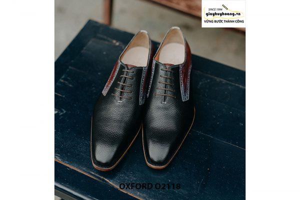 Giày da nam phong cách từ da bê hột Oxford O2118 001